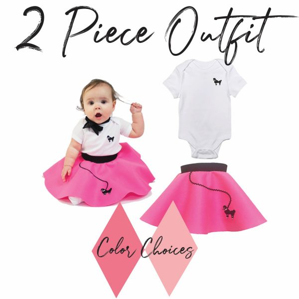 2 piece outfit for infant 50's vintage poodle skirt