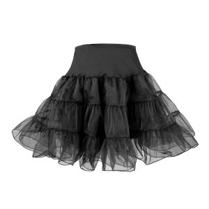Adult retro black petticoat for 50's vintage costume