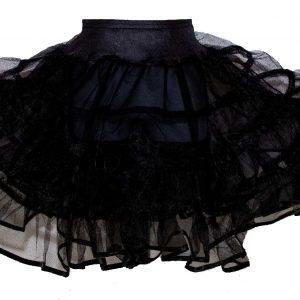 childrens black petticoat for 50's vintage costume