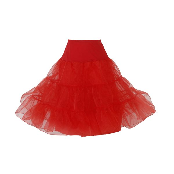 Adult red petticoat for vintage 50's costume